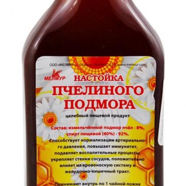 Спиртовая настойка на пчелином подморе применение