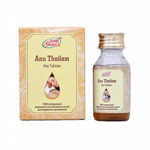 Ану Тайлам 50 мл Шри Ганга Фармаси // Anu Tailam Shri Ganga массажное масло